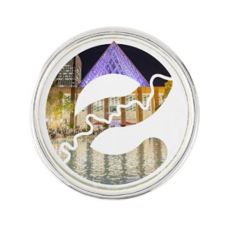 Silbernes Revers-Button Edmonton-Rathauses Anstecknadel