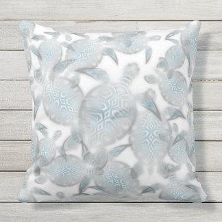 Silbernes Schildkröte-Muster Kissen Für Draußen
