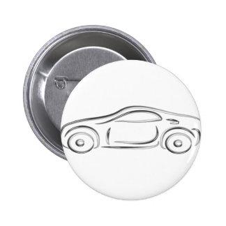 Silbernes Sportauto Anstecknadelbuttons