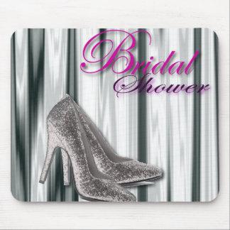 Silbernes Stilleto modernes Brautparty Mauspads
