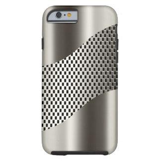 Silbernes Technologie-Maschen-Chrom 2 Tough iPhone 6 Hülle