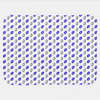 Silbernes und blaues Fußball-Muster Kinderwagendecke