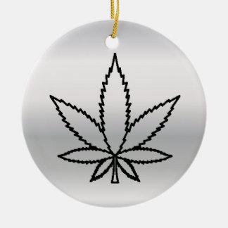 silbernes Unkraut Rundes Keramik Ornament