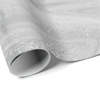 Silbernes weißes graues flüssiges metallisches einpackpapier