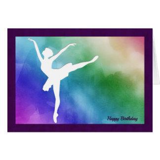 Silhouette-Ballerina-Ausschnitt-Geburtstags-Karte Karte