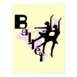 Silhouette-Ballett-T - Shirts und Geschenke Postkarte