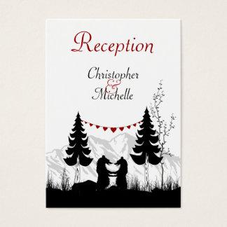 Silhouette-Berg trägt Wedding Empfangs-Karten Visitenkarte