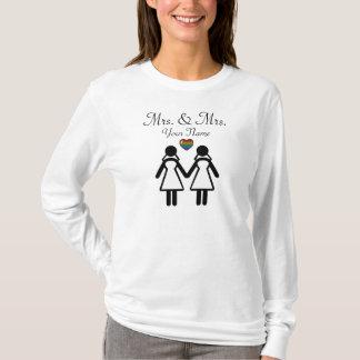 Silhouette-Braut und Braut - groß T-Shirt