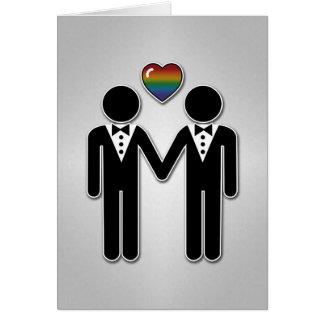 Silhouette-Bräutigam und Bräutigam - groß Grußkarte