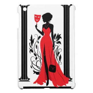 Silhouette der eleganten Frau im roten Kleid mit Hülle Für iPad Mini