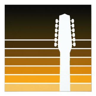 Silhouette der elektrischen Gitarre: Bernstein Quadratische 13,3 Cm Einladungskarte