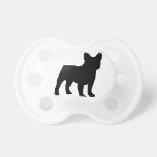 Silhouette der französischen Bulldogge Schnuller