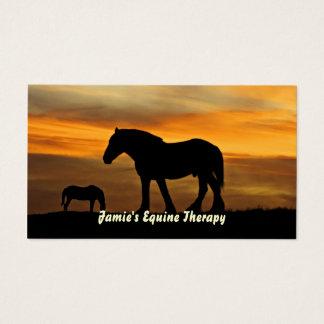 Silhouette der Pferde am Visitenkarte
