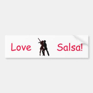 Silhouette der Salsa-Tänzer Autoaufkleber