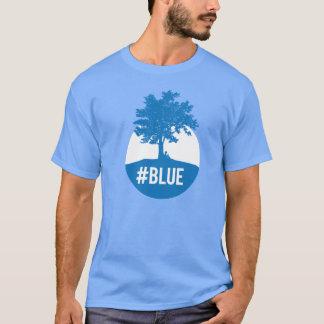 Silhouette des Baums und des Mondes - Gefühl #blue T-Shirt