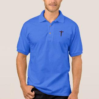 Silhouette des Kruzifixs auf Polo-Shirt Polo Shirt