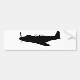 Silhouette des Mustang-P-51 Autoaufkleber