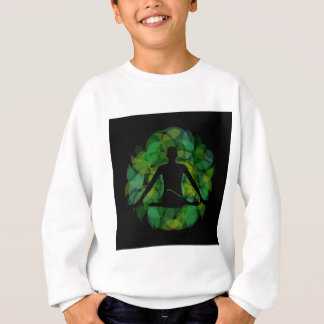 Silhouette einer meditierenden Person Sweatshirt