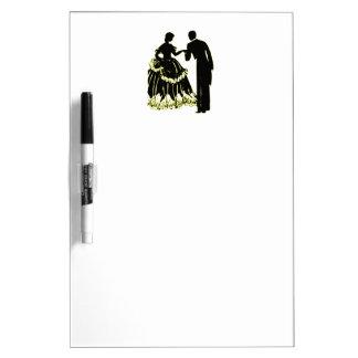 Silhouette eines Paares in der Liebe Trockenlöschtafel