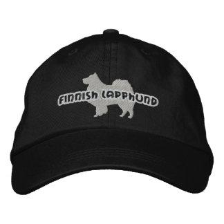 Silhouette-finnischer Lapphund gestickter Hut