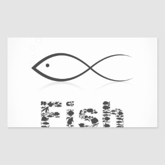 Silhouette fish2 rechteckiger aufkleber