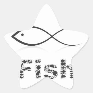 Silhouette fish2 Stern-Aufkleber
