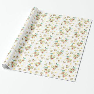 Silhouette-gemusterter Einpackpapier