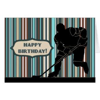 Silhouette-Hockey-Spieler-alles- Gute zum Karte