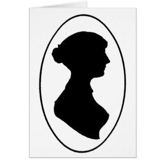 Silhouette Janes Austens Karte