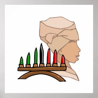 Silhouette Kinara Kwanzaa Poster