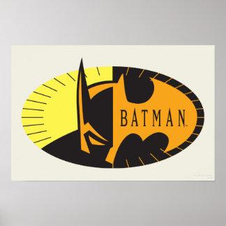 Silhouette-Logo des Batman-Symbol-| Poster