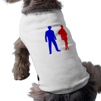 Silhouette Mann man Frau woman T-Shirt