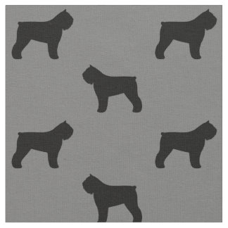 Silhouette-Muster Bouvier DES Flandres Stoff