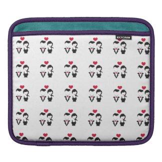 Silhouette-Paare Sleeve Für iPads