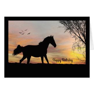 Silhouette-Pferd mit Karte