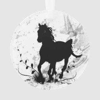 Silhouette, schwarzes Pferd Ornament
