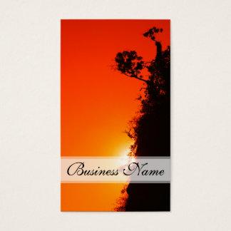 Silhouette-Sonnenuntergang Visitenkarten