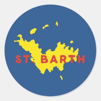 Silhouette St. Barth Runder Aufkleber