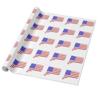 Silhouette-Staatskarte Connecticuts USA Geschenkpapier
