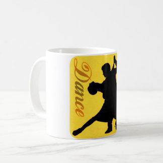 Silhouette-Tanzen-Paare Kaffeetasse