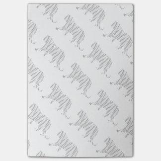 Silhouette-Tiger Schwarzweiss Post-it Klebezettel