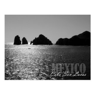 Silhouette von El ACRO de Cabo San Lucas Postkarte