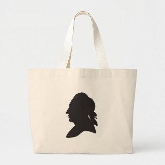 Silhouette von Goethe Jumbo Stoffbeutel