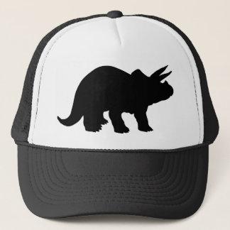 Silhouette von Triceratops Truckerkappe