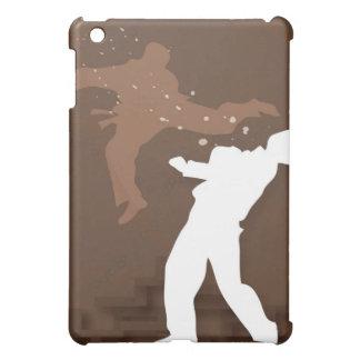 Silhouette von zwei Männern, die Karate üben Hüllen Für iPad Mini