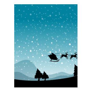 Silhouette-Weihnachten Postkarten