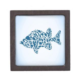 Silhouettefische Schachtel