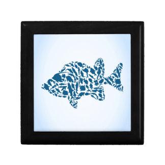 Silhouettefische Schmuckschachtel