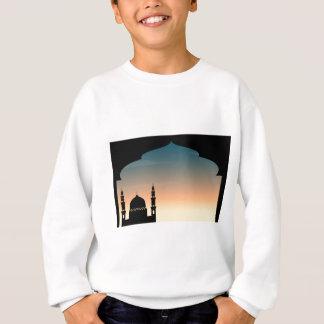 Silhouettemoschee an der Dämmerung Sweatshirt