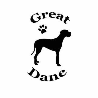 Silhouetteskulptur pawprint Hund des großen Dänen Photostatue